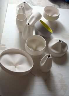 Ceramics  : Pleat BoxXavier Mañosa & Mashallah 2011 slipcast