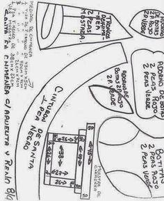 Molde Santa claus en la chimenea - Blog de Santa clauss Christmas Holidays, Diy And Crafts, Patterns, Blog, Shopping, Christmas Quilting, Christmas Crafts, Holiday Ornaments, Applique Quilts