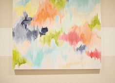 huge DIY abstract painting