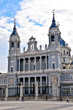 Almudena Cathedral Madrid Spain from Royal Palace