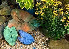 DIY leaves for the garden