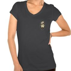 BadGirls gold silhouette young lady Bottom logo T Shirt