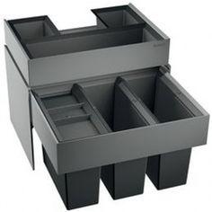 BLANCOSELECT 60/3 Orga Abfalltrennsystem mit Organisationsschublade 3 x 15 Liter für 60 cm Unterschränke 518726
