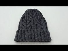 How to Knit – Male Beanie with Cable Stitch Pattern – Harika El işleri-Hobiler Cable Knitting, Knitting Stitches, Knitting Patterns, Crochet Patterns, Seed Stitch, Chain Stitch, Crochet Braid Pattern, Hair Patterns, Crochet Braids Hairstyles