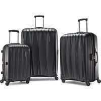 American Tourister 3-Piece Arona Premium Hardside Spinner Luggage Set (Charcoal) only $199
