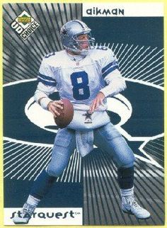 b26cab6e538 1998 UD Choice Starquest 8 Troy Aikman (Football Cards) >>> You can find  more details by visiting the image link.