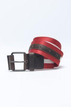 340a56a37f The British Belt Company Centre Stripe Webb Belt