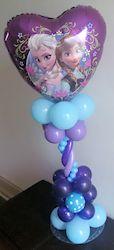 Heart Frozen Balloon Decoration - Centerpiece - Toronto Frozen Birthday Theme, Girls Birthday Party Themes, Frozen Theme Party, 6th Birthday Parties, Birthday Decorations, Frozen Balloon Decorations, Frozen Balloons, Balloons And More, Balloon Centerpieces
