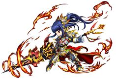 Volcanic Pike Claire Brave Frontier, Amazing Art, Chibi, Rooster, Battle, Illustration Art, The Unit, Manga, Anime