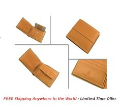 Fold Wallet with Coin Pocket;  Price: USD $30; Details: This Fold Wallet with Coin Pocket is made with quality brown leather. Each wallet is packed in Gift Box.  #rudolphAlexander #freeshipping #Online #OnlineShopping #wallet #seller #sellershop #sellers #gift #metal #giftbox #brown #leather #brownLeather #coinPocket #FoldWallet