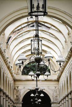Galerie Vivienne, 6 Rue Vivienne, Paris II Paris Architecture, Architecture Details, Rue Montorgueil, Galerie Vivienne, Tuileries Paris, Chandelier Art, Art Nouveau, Romantic Paris, Holiday Places