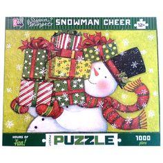 Susan Winget Snowman Cheer 1000 Piece Puzzle