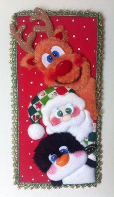 TRIPTICOS NINGUNO ES IGUAL Christmas Crafts, Christmas Decorations, Christmas Ornaments, Holiday Decor, Bulletin Boards, Country, Crochet, Patchwork Embutido, Fun Diy Crafts