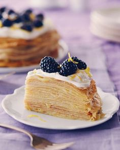 Layer upon layer of tangy lemon sandwiched between tender crepes will have you sneaking back to the refrigerator for more.