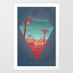 Buy No Man's Sky Art Print by gushuedesign. Worldwide shipping available at Society6.com. Just one of millions of high quality products available.