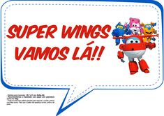 Plaquinhas Divertidas Super Wings 6