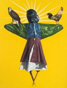 Eckart Hahn, Scarecrow, 2011, Acryl auf Leinwand, 170 x 130 cm