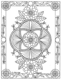 beautiful zentangle and mandala design Free Adult Coloring, Adult Coloring Book Pages, Printable Adult Coloring Pages, Coloring Sheets, Coloring Books, Pattern Coloring Pages, Mandala Coloring Pages, Paper Embroidery, Embroidery Patterns