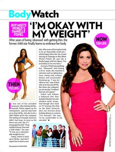 """Danielle Fishel from Boy Meets World - I still hate the idea of posting weights beside photos of women, especially without their height and other more relevant health factors. I am 5'8"""" and 126lbs for me is anorexic and very unhealthy."""