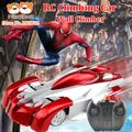 Spiderman Game RC Climbing Car Creep on the wall Climber Remote Control Electric Toy carros de controle remoto eletrico juguetes