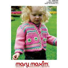 Mary Maxim - Jellybean Cardigan Pattern - Patterns - Patterns & Books