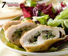 Sábado - Rollos de pollo rellenos de espárragos - 7 días de Sabor con ECONO