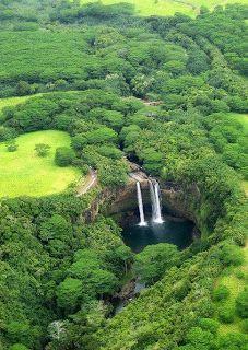 Wailua Falls, Island Kauai, Hawaii