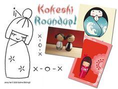 Kokeshi embroidery.
