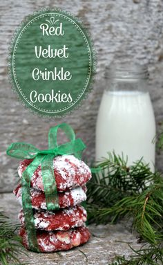 If you are looking for a stunning holiday cookie, these Red Velvet Crinkle Cookies are perfect! #MakeItPerfectly #ad
