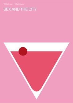 cartazes minimalistas de séries.