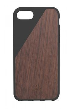 Native Union CLIC Wooden Case for iPhone 7 Handcrafted Real Walnut Wood DropProof Slim Cover with Screen Bumper Protection Black * Check out the image by visiting the link. Iphone 7 Cases Black, Iphone 7 Plus, Iphone Cases, Iphone 8, Walnut Timber, Cable Lightning, Marble Case, Wooden Case, Glass Screen