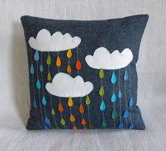 Rainbow Showers Pillow - Etsy/Krakracraft - DIY Idea