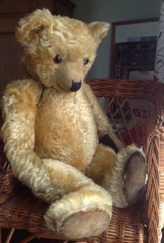 Curley Chiltern Vintage Teddy Bear from All You Can Bear http://www.allyoucanbear.com/index.php/category/product/388-lovely-curley-coated-chiltern-bear/category_pathway-12