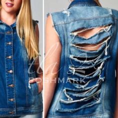 HP 10/11SHREDDED & DISTRESSED VEST I love this vest! Wear mine all the time! Super soft with cool shredding and distressed detail. Very hip! 100% cotton.PLEASE DO NOT BUY THIS LISTING! I will personalize one for you. tla2 Other