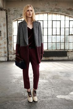 rag and bone (i love this coat and kind of want to find a gray coat and dip dye it in maroon...?)