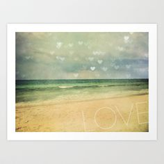 Beach+Love+Art+Print+by+Erin+Johnson+-+$19.00