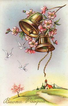 Easter Pictures, Old Postcards, Vintage Cards, Happy Easter, Decorative Bells, Painting, Sissi, Easter, Pictures
