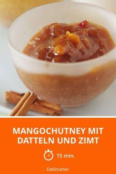 Mangochutney mit Datteln und Zimt | http://eatsmarter.de/rezepte/mangochutney-mit-datteln-und-zimt