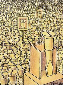 humor grafico LOS POLITICOS y el PUEBLO Pictures With Deep Meaning, Art With Meaning, Political Art, Political Cartoons, Satirical Illustrations, Meaningful Pictures, Deep Art, Arte Obscura, Social Art