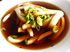 Udon Noodle soup- I would venture back to the asian market for this...jellyfish heads and all