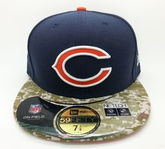 CHICAGO BEARS NFL NEW ERA 59 FIFTY SALUTE SERVICE FITTED HAT/CAP (SIZE 7 1/8)NEW #NEWERA59FIFTY #ChicagoBears