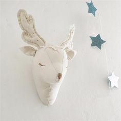 3d בעלי חיים ראש חד קרן צבי תוספות קישוטי מדבקת קיר שטיחי קיר חדר ילדים לילדים בייבי בפלאש מתנת אמנות אבזרי צילום