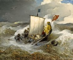 Sea Pictures, Nautical Pictures, Dutch Golden Age, Stormy Sea, Art Addiction, Winslow Homer, Nautical Art, Traditional Paintings, Seascape Paintings