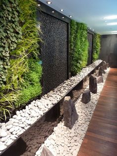 https://flic.kr/p/9tPr3L | Inamo restaurant green wall, Regent St | Indoor green wall in London by Mark Laurence of BioTecture