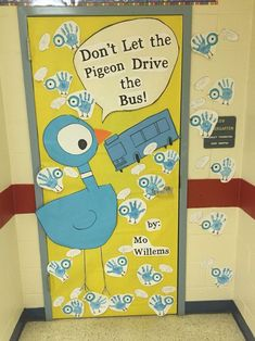 Read Across America favorite book classroom door decoration.my favorite! - Read Across America favorite book classroom door decoration…my favorite! Read Across America favorite book classroom door decoration…my favorite! Kindergarten Classroom Door, Kindergarten Books, Classroom Themes, Fall Classroom Door, Classroom Door Displays, Preschool Door Decorations, Book Bulletin Board, School Doors, Mo Willems