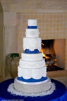 Royal Blue Cake | Catherine Joanne Cakes