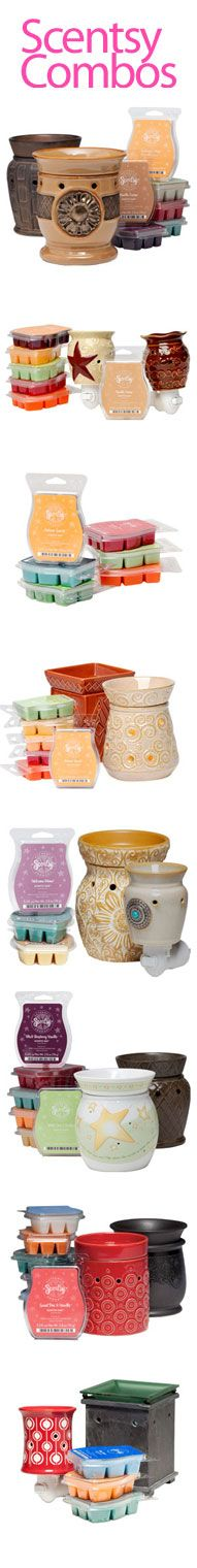Scentsy combine and save combos are what I recommend for people who are just starting out or what to branch out in scentsy products to get a variety of scents and warmers to try out :)