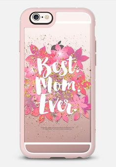 Best Mom Ever iPhone 6s case in Pink Gray and Clear by @lilith76   @casetify