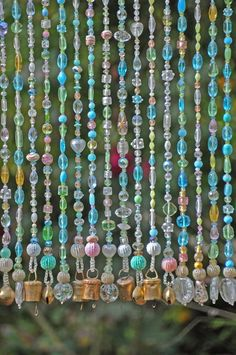 Beaded Curtain, Glass Beaded Sun Catcher, Window Curtain, Boho Home Decor Bohemian Curtains, Beaded Curtains, Window Curtains, Blackout Curtains, Crystals And Gemstones, Crystal Beads, Glass Beads, Crystal Lights, Hanging Door Beads