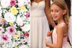 Truly happy flower girl Happy Flowers, Bridesmaid Dresses, Wedding Dresses, Floral Wedding, Florals, Fashion, Bridesmade Dresses, Bride Dresses, Floral